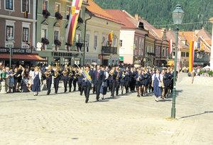 Die Stadtkapelle Tulln beim Landesmusikfest in Kärnten